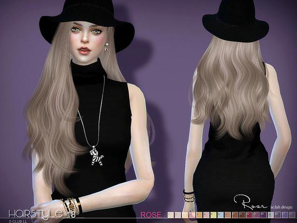 Sims 4 Rose n18 hair by S Club at TSR