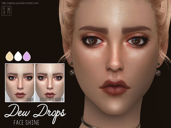 Sims 4 Dew Drops Face Shine by Screaming Mustard at TSR