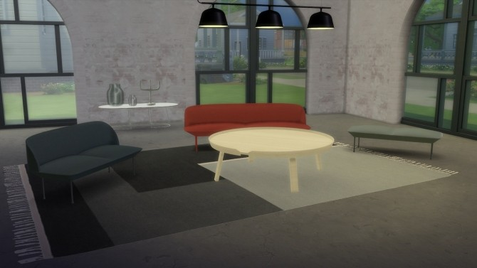 Sims 4 Oslo Collection: bench (free) + seaters (pay) at Meinkatz Creations