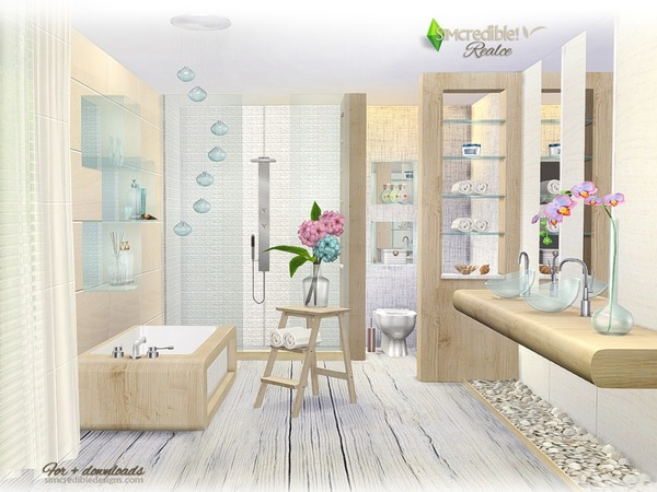 Realce bathroom by SIMcredible at TSR image 3316 Sims 4 Updates