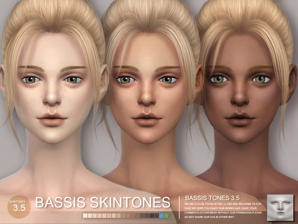 Sims 4 BASSIS ND skintones3.5 MF by S Club WMLL at TSR