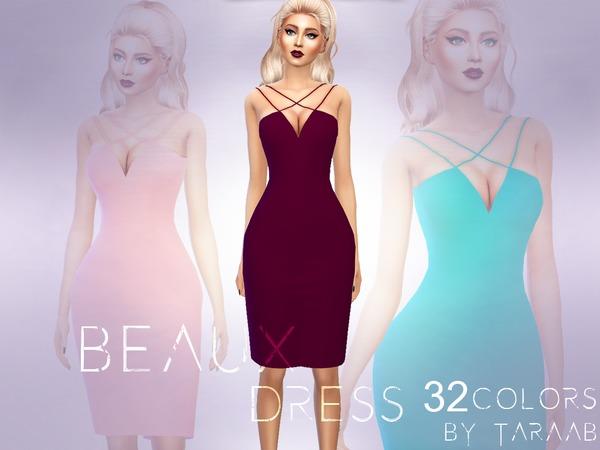 Sims 4 Beaux Dress by taraab at TSR