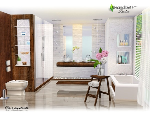 Realce bathroom by SIMcredible at TSR image 3416 Sims 4 Updates