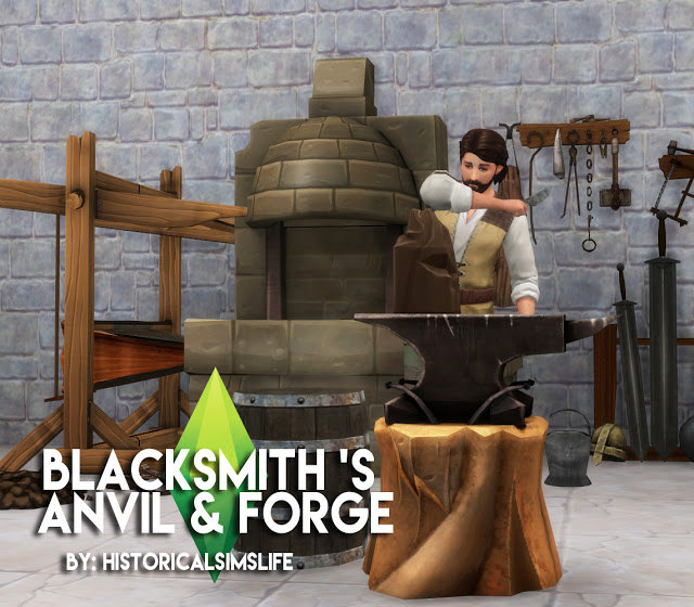 Blacksmith Set at Historical Sims Life image 3451 Sims 4 Updates