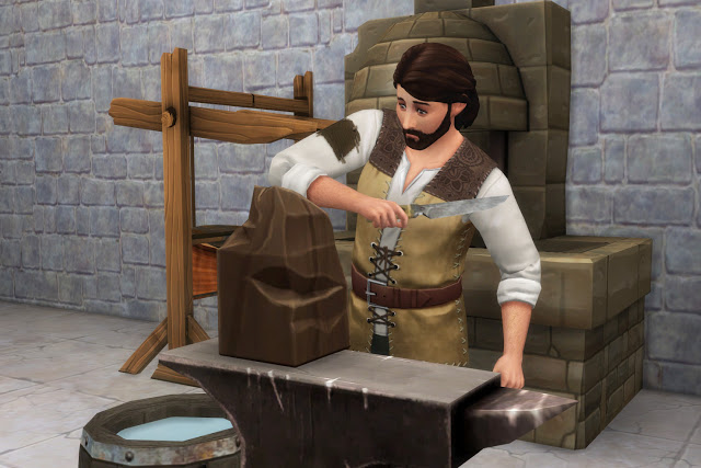 Blacksmith Set at Historical Sims Life image 3491 Sims 4 Updates