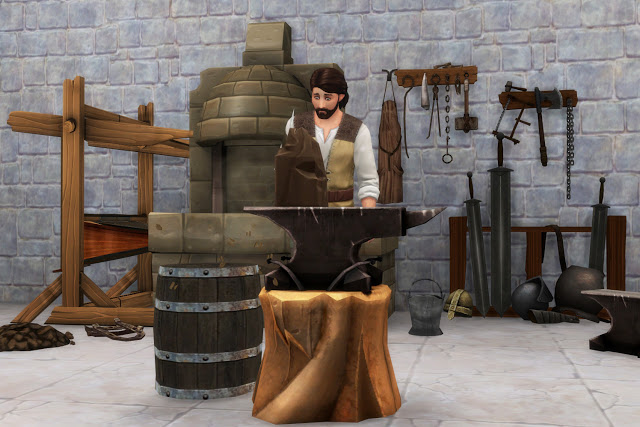 Blacksmith Set at Historical Sims Life image 350 Sims 4 Updates
