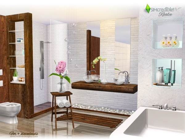Sims 4 Realce bathroom by SIMcredible at TSR