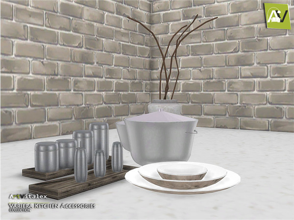 Sims 4 Variera Kitchen Accessories by ArtVitalex at TSR