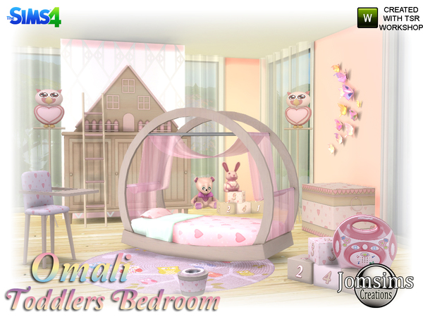 Omali Toddlers Bedroom by jomsims at TSR image 360 Sims 4 Updates