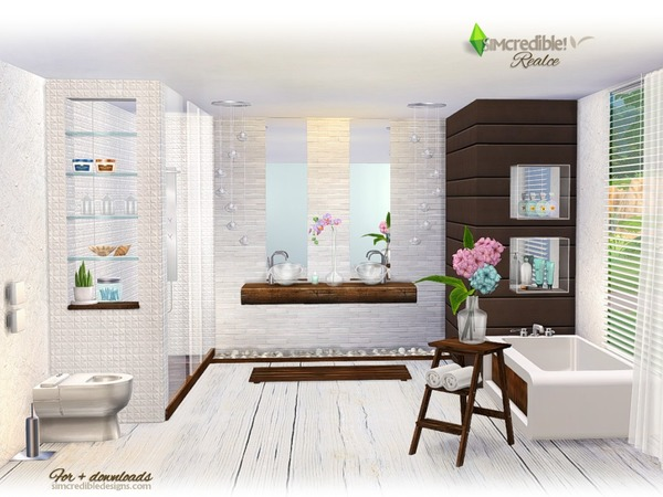 Realce bathroom by SIMcredible at TSR image 3616 Sims 4 Updates