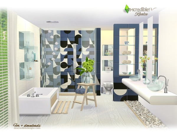 Realce bathroom by SIMcredible at TSR image 3716 Sims 4 Updates