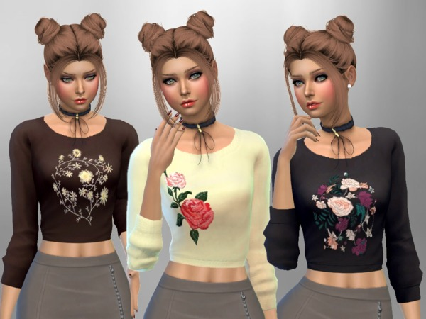 Sims 4 Cropped Jumpers by SweetDreamsZzzzz at TSR
