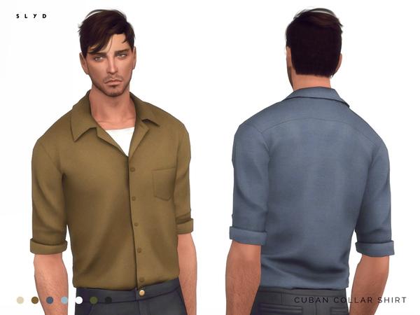 Cuban Collar Shirt by SLYD at TSR image 3815 Sims 4 Updates