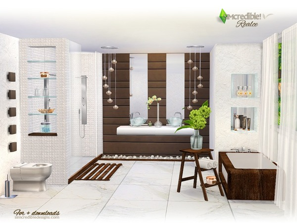 Realce bathroom by SIMcredible at TSR image 3816 Sims 4 Updates