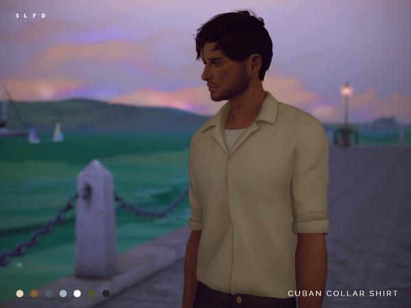 Cuban Collar Shirt by SLYD at TSR image 3914 Sims 4 Updates