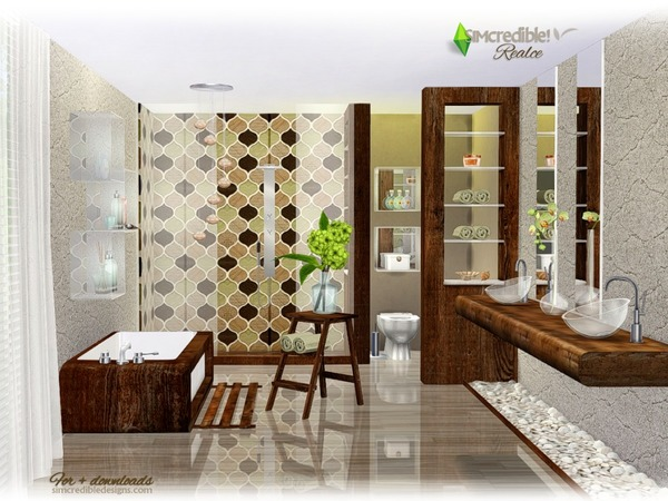 Realce bathroom by SIMcredible at TSR image 3915 Sims 4 Updates