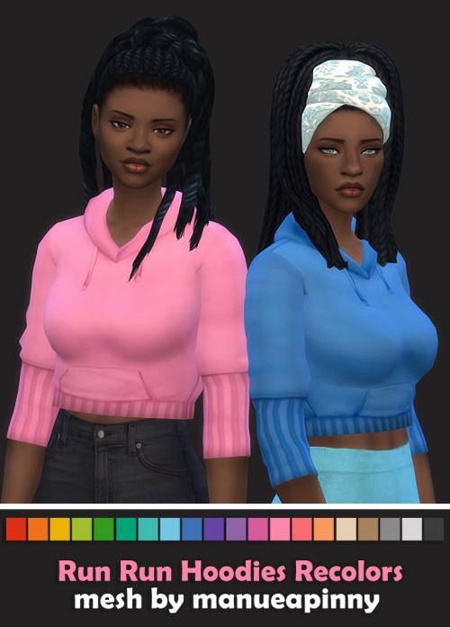 Sims 4 Run Run Hoodies Recolors at Maimouth Sims4