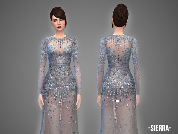 Sims 4 Sierra gown by April at TSR