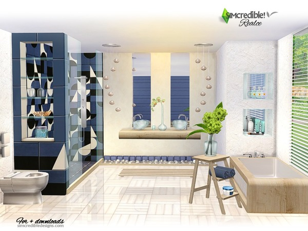 Realce bathroom by SIMcredible at TSR image 4016 Sims 4 Updates