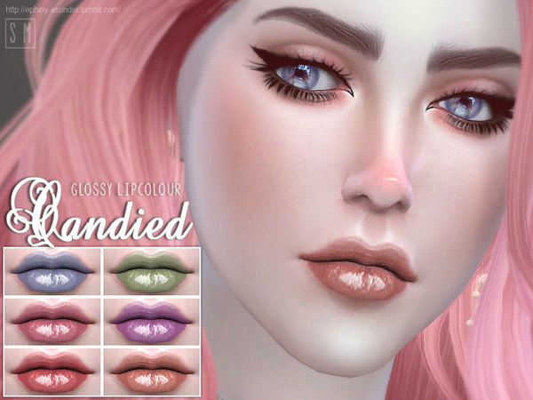 Sims 4 Candied Glossy Lip Colour by Screaming Mustard at TSR