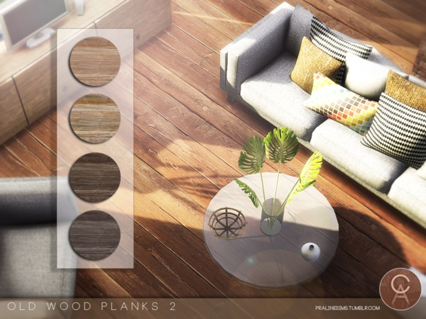 Old Wood Planks 2 by Pralinesims at TSR image 4102 Sims 4 Updates
