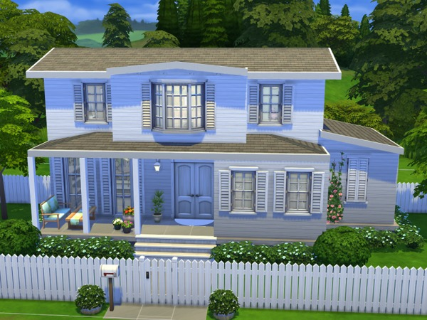 Sims 4 Spring cottage by flubber32c4 at TSR