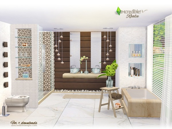 Realce bathroom by SIMcredible at TSR image 4118 Sims 4 Updates