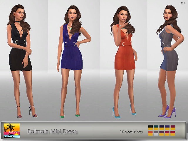 Sims 4 Mini Dress at Elfdor Sims