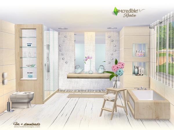 Realce bathroom by SIMcredible at TSR image 4217 Sims 4 Updates
