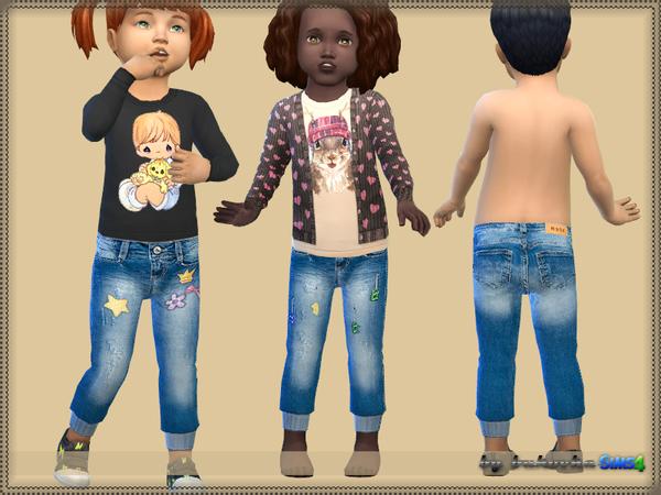 Sims 4 Pants Denim fm by bukovka at TSR