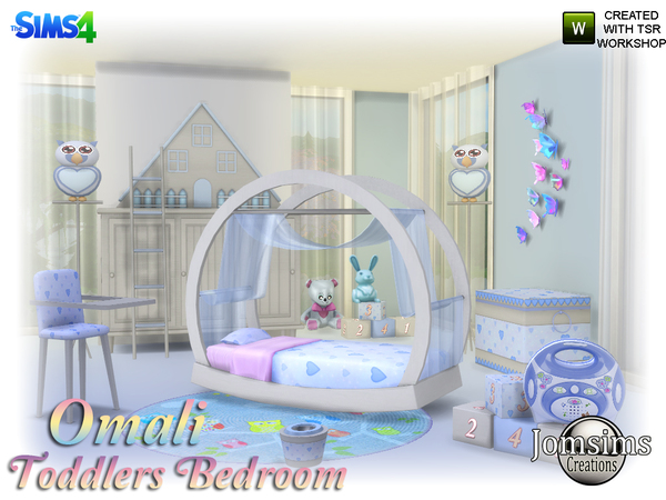 Omali Toddlers Bedroom by jomsims at TSR image 450 Sims 4 Updates