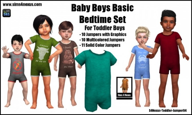 Baby Boys Basic Bedtime Set at Sims 4 Nexus image 454 670x402 Sims 4 Updates