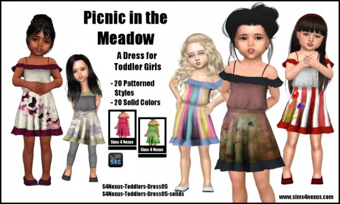 Picnic in the Meadow dress by SamanthaGump at Sims 4 Nexus image 474 670x402 Sims 4 Updates