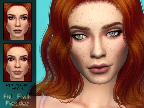 KM Full Face Freckles by Kitty.Meow at TSR image 476 Sims 4 Updates