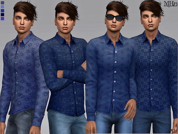 Sims 4 Cody Shirts by Margeh 75 at TSR