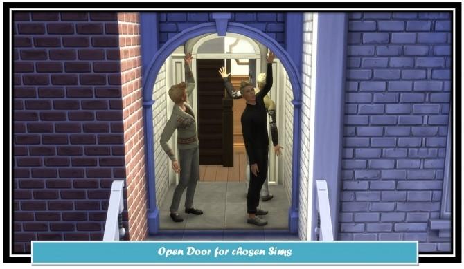 Sims 4 Open Door for chosen Sims by LittleMsSam