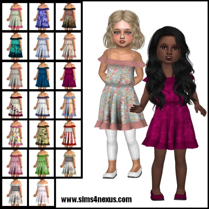 Picnic in the Meadow dress by SamanthaGump at Sims 4 Nexus image 484 670x670 Sims 4 Updates