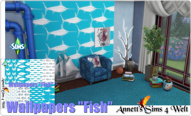 Fish wallpapers at Annett's Sims 4 Welt image 507 Sims 4 Updates