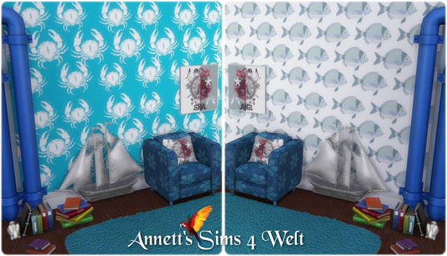 Fish wallpapers at Annett's Sims 4 Welt image 5111 Sims 4 Updates