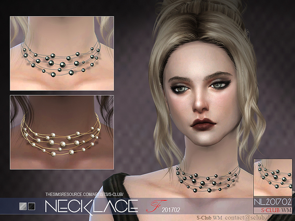 Sims 4 Necklace F 201702 by S Club WM at TSR