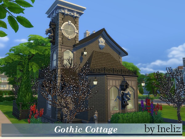 Gothic Cottage by Ineliz at TSR image 5216 Sims 4 Updates
