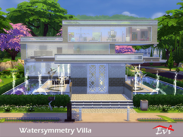 Sims 4 Watersymmetry villa by evi at TSR