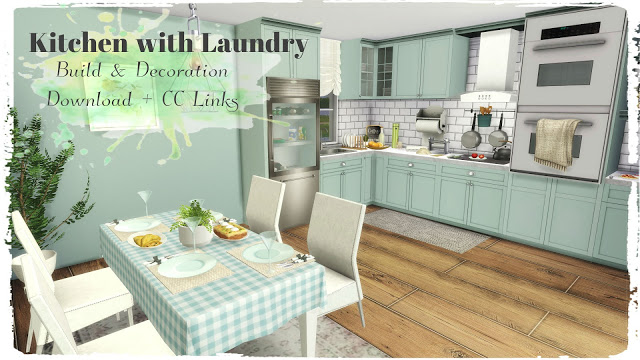 Kitchen with Laundry at Dinha Gamer image 5218 Sims 4 Updates