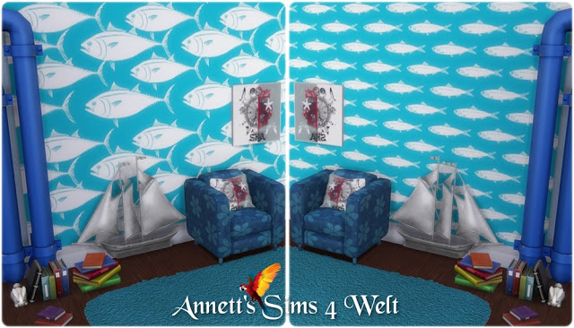 Fish wallpapers at Annett's Sims 4 Welt image 528 Sims 4 Updates