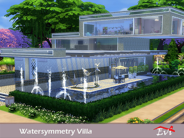 Watersymmetry villa by evi at TSR image 5315 Sims 4 Updates