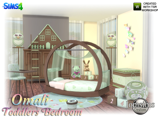 Omali Toddlers Bedroom by jomsims at TSR image 540 Sims 4 Updates