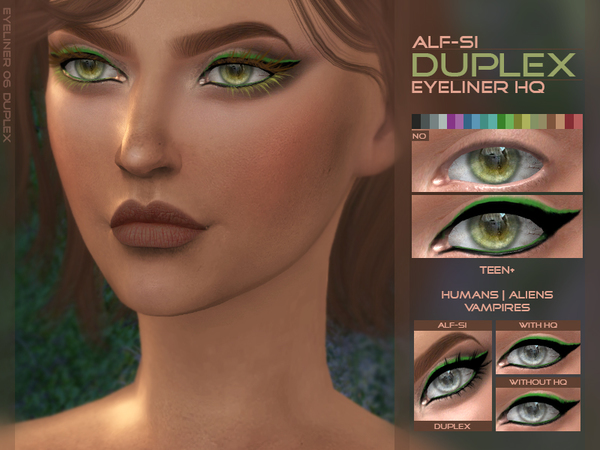 Duplex Eyeliner HQ by Alf si at TSR image 545 Sims 4 Updates