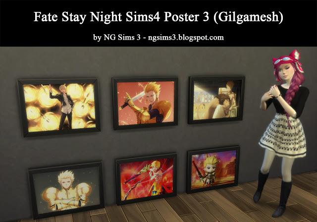Sims 4 Fate Stay Night Poster 3 at NG Sims3