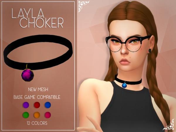 Sims 4 Enriques4 Layla Choker by Jruvv at TSR
