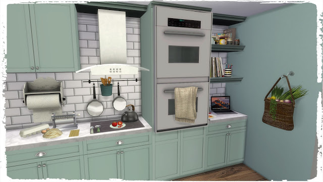 Kitchen with Laundry at Dinha Gamer image 5516 Sims 4 Updates